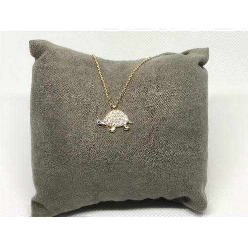 Altın Kolye - Taşlı Kaplumbağa