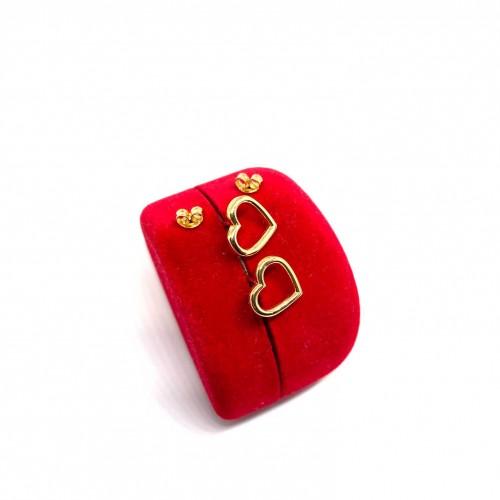 Altın 14 Ayar Kalp Küpe - TK0085