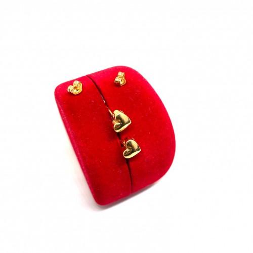 Altın 14 Ayar Kalp Küpe - TK0088