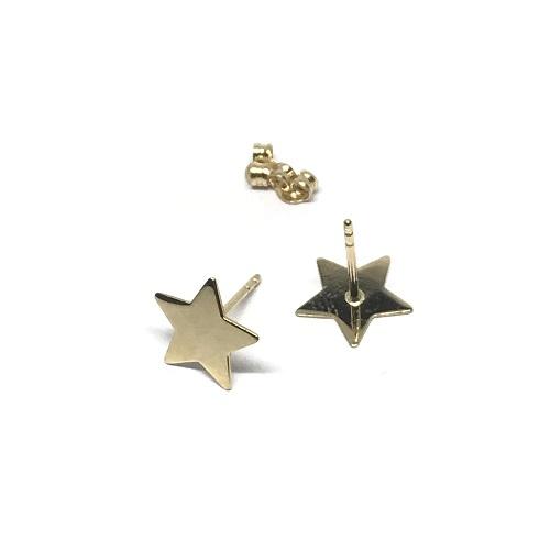 Yıldızlı Altın Küpe