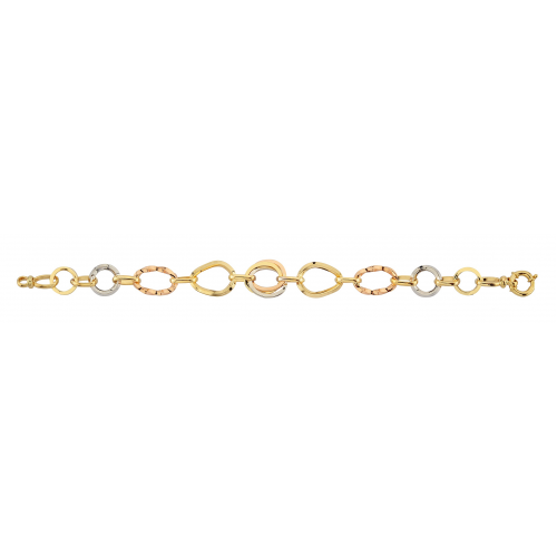 14 Ayar Altın Hallow Bayan Bileklik - AB002