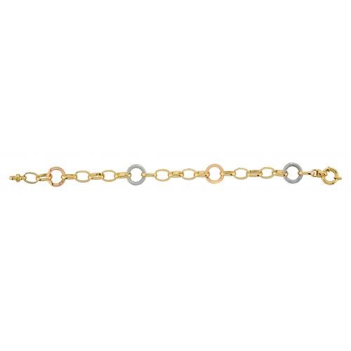 14 Ayar Altın Hallow Bayan Bileklik - AB023
