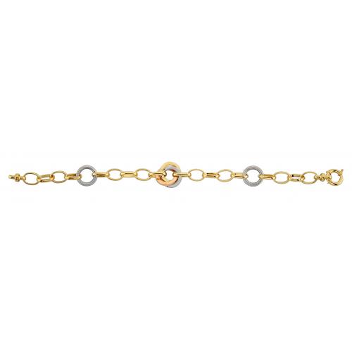14 Ayar Altın Hallow Bayan Bileklik - AB024