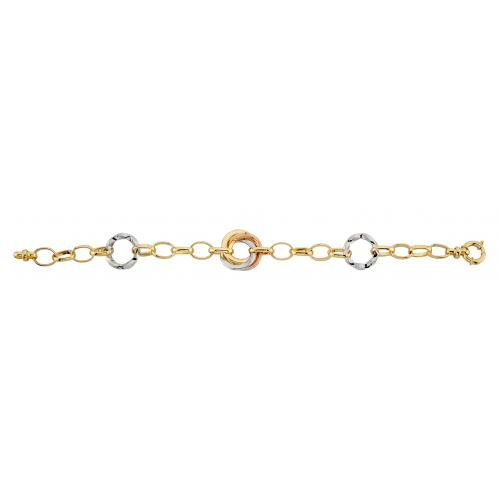 14 Ayar Altın Hallow Bayan Bileklik - AB025